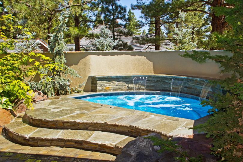 Natural In Ground Hot Tub Robert Allen Pools Amp Spas