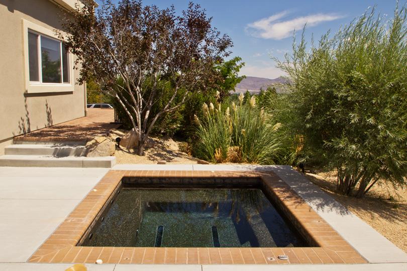Contemporary Custom In Ground Hot Tub